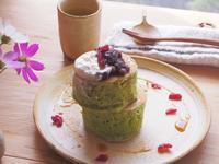 抹茶パンケーキの朝ごはん - 陶器通販・益子焼 雑貨手作り陶器のサイトショップ 木のねのブログ