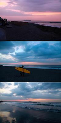 2016/10/05(WED) 朝焼けの海に朝練サーファーズ。 - SURF RESEARCH
