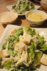 鶏肉と厚揚げの胡麻サラダ - 週末は晴れても、雨でも