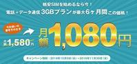 MNP弾候補 U-mobile3GB音声プランが最低利用期間中1080円に割引キャンペーン - 白ロム転売法