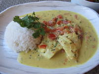 鱈のココナッツミルク・カレー - やせっぽちソプラノのキッチン2