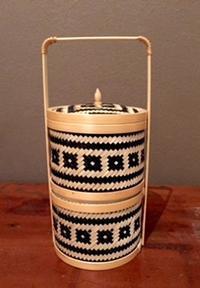 竹の二段カゴ【ベトナム】 - ひと・モノ・くらし~つくばの小さな雑貨店『motomi』~