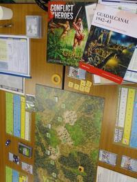 YSGA「東部戦線」連続例会2016の様子その12〔Academy〕Conflict of Heroes:Guadalcanal/初日4人戦 - YSGA(横浜シミュレーションゲーム協会) 例会報告