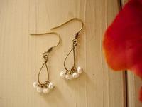 小さな小さな真珠のピアス - サリュー/Salut  職人さんのいるお店