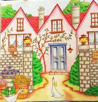 Thank you!! 彩色例の投稿 『ロマンティック・カントリー 』by Zen2さん - オトナのぬりえ『ひみつの花園』オフィシャル・ブログ