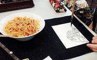 線と麺 - きゅうママの絵手紙の小部屋