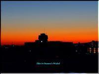 甲子園六番町から見た、今日(10/15)の朝焼け - 心に響く光景