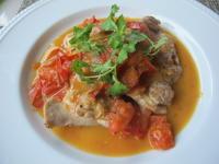 15分で出来る夕食 ♪鶏肉とトマトのソテー&にんじんサラダ♪ - やせっぽちソプラノのキッチン2