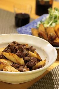 長芋と牛肉の炒め - こなみのおいしいキッチン