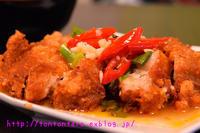 台北地下街ジュース屋の隣、「荷雅精緻食坊」の椒麻鶏はなかなかいけるお! - 【重杉】台湾出稼ぎ、ぼっち放浪記(クリックすると大きくなります)【注意】