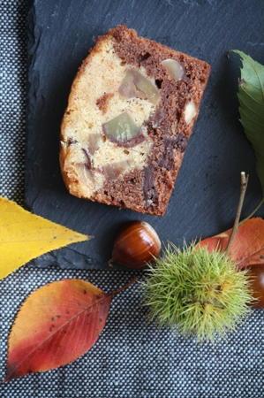 栗・チョコ・ナッツで秋のパウンドケーキ - mimosa