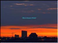 甲子園六番町から見た、今日(10/18)の朝焼け - 心に響く光景