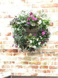 11月のOne-day Lessonはビオラのリース!! - さにべるスタッフblog     -Sunny Day's Garden-