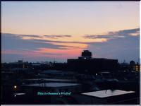 甲子園六番町から見た、今日(10/19)の朝焼け - 心に響く光景