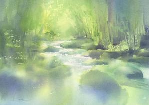 奥入瀬 水彩画 - はるさき水彩画blog