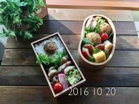 10月20日(木)  茅乃舎の辛みそでヤンニョムチキン弁当 - おうちのこと あれやこれや備忘録