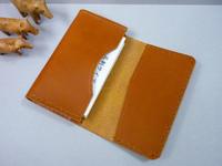 連続して制作・・名刺入れ2点 - 手縫い革小物 paddy の作品箱