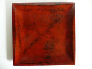陶片オブジェと根来角盆(根来シリーズ 3) - 心の時空