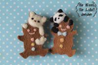 動物ジンジャーマンクッキーブローチ - Wool 120%