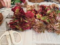 アトリエ フェフェさん宅でリース作り - 小さな花アトリエ