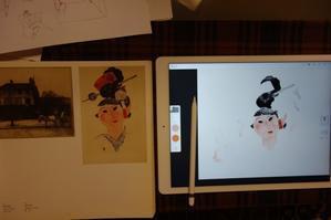 版画作品を模写する - 糸巻きパレットガーデン