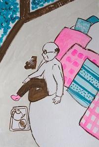 ●ティーハウス・アプサラ Day5● - たなかきょおこ-旅する絵描きの絵日記/Kyoko Tanaka Illustrated Diary
