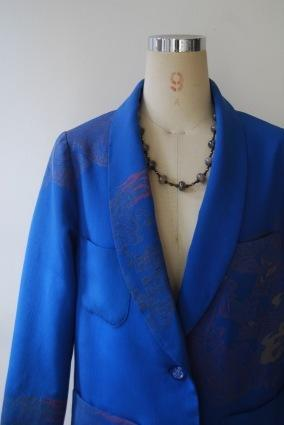着物リメイク・羽織からへちま衿ジャケット - harico couture