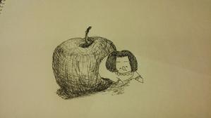 リンゴかじる人 - 今日と明日を生きてたら