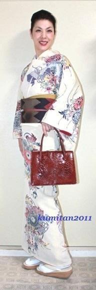 今日の着物コーディネート♪(2016.10.24)~紅型着物&ギザギザ帯編~ - 着物、ときどきチロ美&チャ美。。。リサイクル着物ハタノシイナ♪