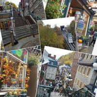 石畳の街と黄葉@ケベック - 続☆今日が一番・・・♪