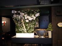 イタリアンレストラン「Capri Capri(カプリカプリ)」さんの、定期的にお取り返しているアーティフィシャルフラワー(造花)ディスプレイ。 - 札幌 花屋 meLL flowers