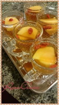 秋色の紅茶ゼリーは柿とコジベリーで♪ - ロッサクララのおいしい紅茶じかん    *☆Tea Garden☆*