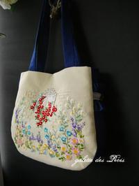 お預かりした刺繍でバッグを仕立てました - galette des Rois ~ガレット・デ・ロワ~