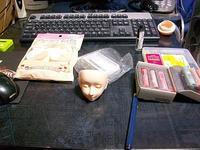 球体関節人形を作る~番外編 メイクの練習 - Time piece