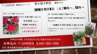 T-Garden お教室11/8 - swing wagon