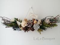 雑貨店la feuilleさんでのクリスマススワッグ作り - LaLa Bouquet