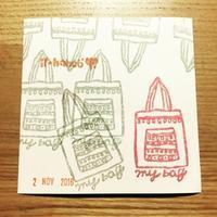 【ぬる絵】トートバッグ - ii-hanco*いいじまさやかのはんこ日記