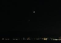 晩秋、月と金星 - みなと神戸 のんびり風物詩