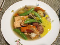 野菜たっぷりのシーフードポトフ - やせっぽちソプラノのキッチン2