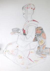 舞妓さん - 黒川雅子のデッサン  BLOG版