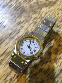 cartier カルティエ サントス オクタゴン 自動巻き腕時計修理 - トライフル・西荻窪・時計修理とアンティーク時計の店