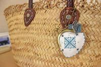フェズ刺繍のミニがまぐちとピンクッション - フレンチモロカンハンドメイド&料理