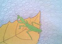 (衝撃)カマキリの寄生虫 - たなかきょおこ-旅する絵描きの絵日記/Kyoko Tanaka Illustrated Diary