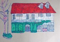 レストラン鯛萬 (松本建物シリーズ) - たなかきょおこ-旅する絵描きの絵日記/Kyoko Tanaka Illustrated Diary