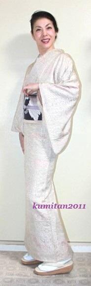 今日の着物コーディネート♪(2016.11.10)~縮緬着物&名古屋帯編~ - 着物、ときどきチロ美&チャ美。。。リサイクル着物ハタノシイナ♪