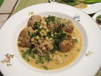 仔牛のミートボールのミルク煮&グアヴァと葡萄のサラダ - やせっぽちソプラノのキッチン2