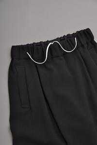 NO CONTROL AIR  A/P Double Cloth Wrap Easy Pants (Black) - un.regard.moderne