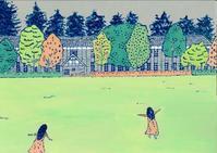 秋・旧松本高等学校 (松本建物シリーズ) - たなかきょおこ-旅する絵描きの絵日記/Kyoko Tanaka Illustrated Diary