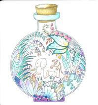 ふしぎな王国 色を塗っていただきました! - オトナのぬりえ『ひみつの花園』オフィシャル・ブログ