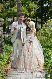 新郎新婦様からのメール フェリーチェガーデン日比谷様へ 新緑の中、幸せな一日を  - 一会 ウエディングの花